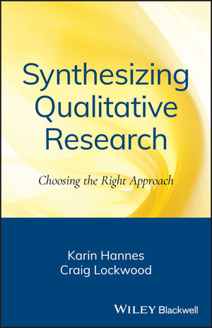 Synthesizing Qualitative Research: Choosing the Right Approach (1119959829) cover image