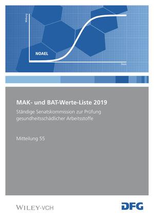 MAK- und BAT-Werte-Liste 2019
