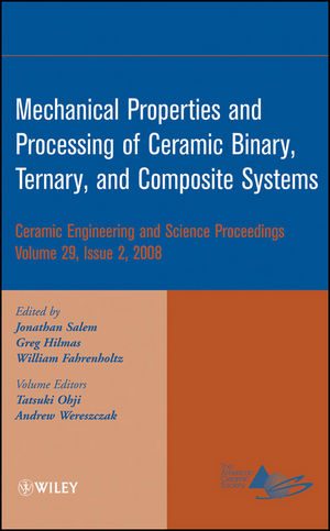 Mechanical Properties and Performance of Engineering Ceramics and Composites IV: Ceramic Engineering and Science Proceedings, Volume 29, Issue 2 (047034492X) cover image