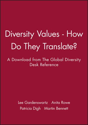 Diversity Values - How Do They Translate?: A Download from The Global Diversity Desk Reference