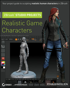 ZBrush Studio Projects: Realistic Game Characters (111806772X) cover image