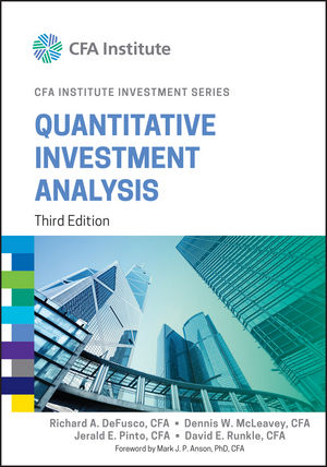 Wiley: Quantitative Investment Analysis, 3Rd Edition - Richard A