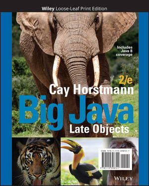Big Java: Late Objects, 2nd Edition