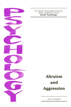 Altruism and Aggression (185433252X) cover image