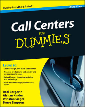 Call Centers For Dummies, 2nd Edition (0470677430) cover image