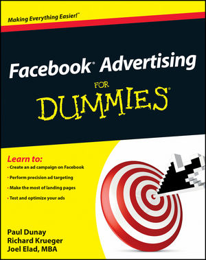 Facebook Advertising For Dummies (0470948930) cover image