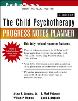 The Child Psychotherapy Progress Notes Planner, 2nd Edition