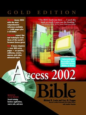 Access 2002 Bible, Gold Edition (0764535730) cover image