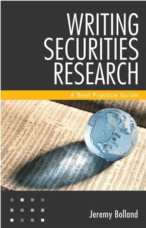 Writing Securities Research: A Best Practice Guide (1118181530) cover image