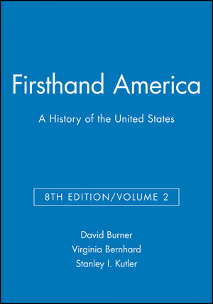 Firsthand America: A History of the United States, Volume 2, 8th Edition (1933385030) cover image