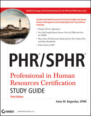 PHR / SPHR Professional in Human Resources Certification Study Guide, 3rd Edition (0470596031) cover image