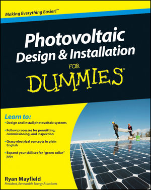 Photovoltaic Design and Installation For Dummies (0470912731) cover image