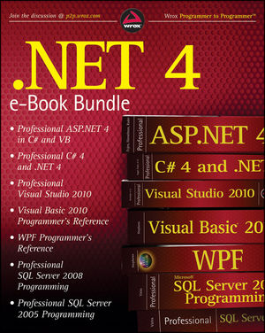 .NET 4 Wrox PDF Bundle: Professional ASP.NET 4, Professional C# 4, VB 2010 Programmer