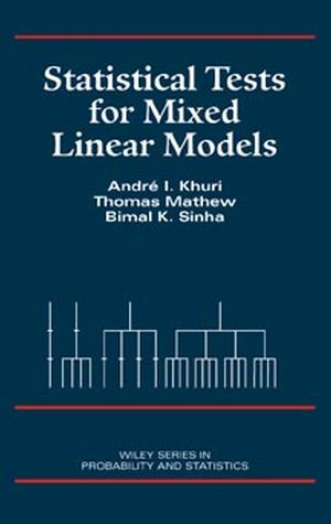 Statistical Tests for Mixed Linear Models (0471156531) cover image