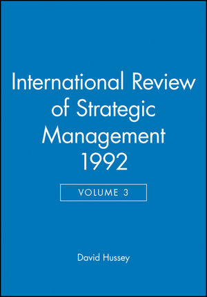 International Review of Strategic Management 1992, Volume 3