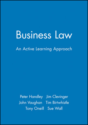 Business Law: An Active Learning Approach (0631201831) cover image