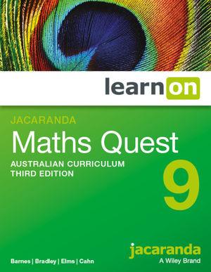 Jacaranda Maths Quest 9 Australian Curriculum learnON (Online Purchase)