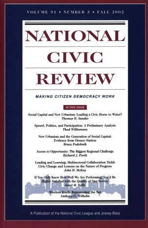National Civic Review, Volume 91, No. 3, Fall 2002, Social Capital and New Urbanist Design