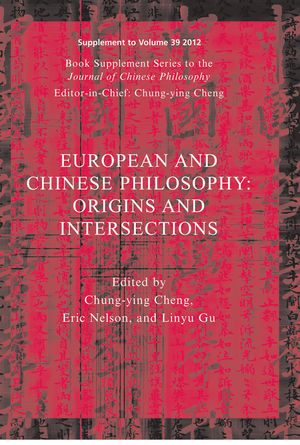 European and Chinese Traditions of Philosophy