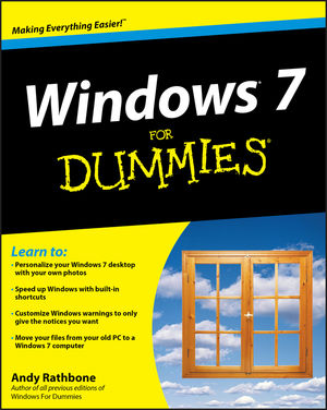 Windows 7 For Dummies (0470497432) cover image