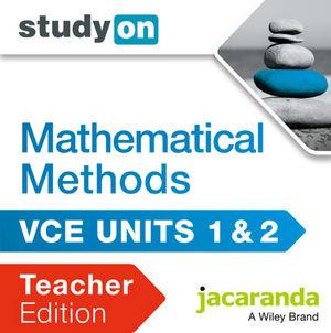 StudyOn VCE Mathematical Methods Units 1&2 Teacher Edition (Online Purchase)