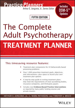 The Complete Adult Psychotherapy Treatment Planner: Includes DSM-5 Updates, 5th Edition (1118418832) cover image