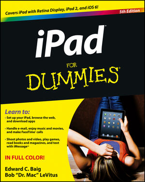 iPad For Dummies, 5th Edition (1118498232) cover image