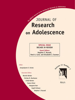 Journal of Research on Adolescence: Decade in Review (1444339532) cover image