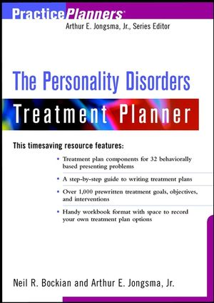The Personality Disorders Treatment Planner (0471394033) cover image
