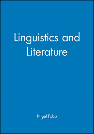 Linguistics and Literature (0631192433) cover image