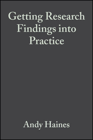 Getting Research Findings into Practice, 2nd Edition (0727915533) cover image