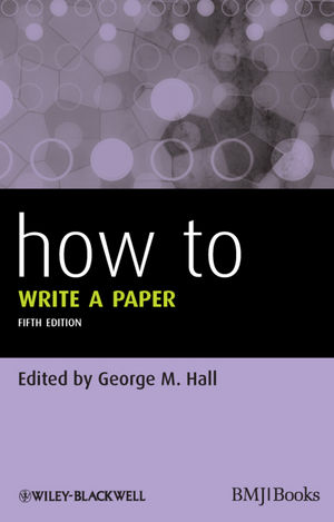 How To Write a Paper, 5th Edition (1118488733) cover image