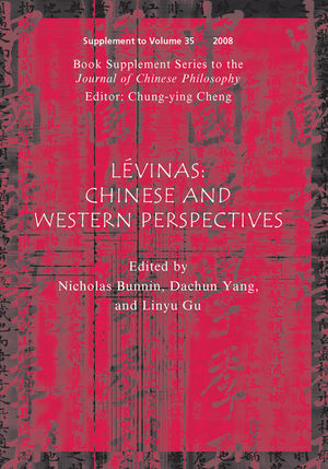 Lévinas: Chinese and Western Perspectives, Volume 35 (1444309633) cover image