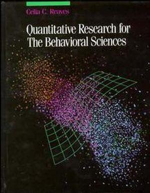 Quantitative Research for the Behavioral Sciences