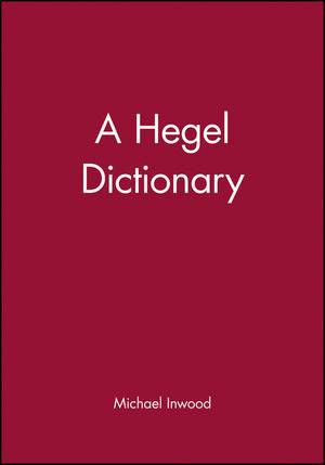 A Hegel Dictionary (0631175334) cover image