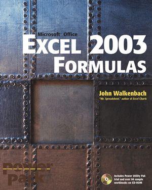 Excel 2003 Formulas (0764540734) cover image