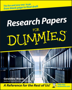 Research Papers For Dummies (1118053834) cover image