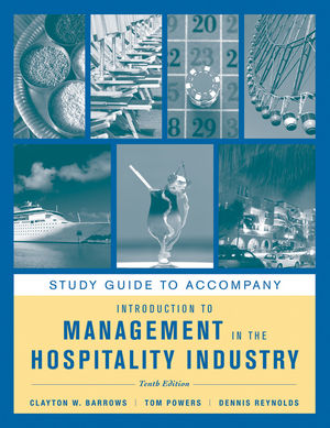 Study Guide to accompany Introduction to Management in the Hospitality Industry, 10e (1118066634) cover image
