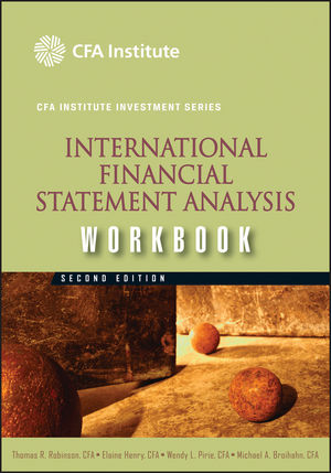 International Financial Statement Analysis Workbook, 2nd Edition (1118235134) cover image