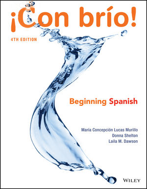 ¡Con brío! Beginning Spanish, 4th Edition (1119320534) cover image