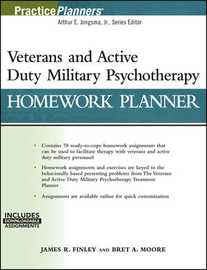 Veterans and Active Duty Military Psychotherapy Homework Planner (1119384834) cover image