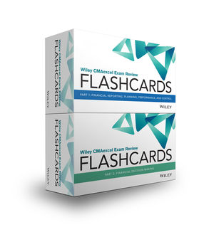 Wiley CMAexcel Exam Review 2019 Flashcards: Complete Set