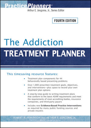 The Addiction Treatment Planner, 4th Edition (0470473835) cover image