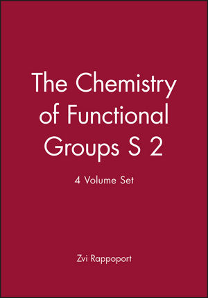 The Chemistry of Functional Groups S 2, 4 Volume Set (0470779535) cover image