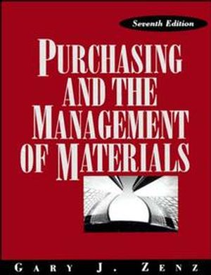Purchasing and the Management of Materials, 7th Edition (0471549835) cover image