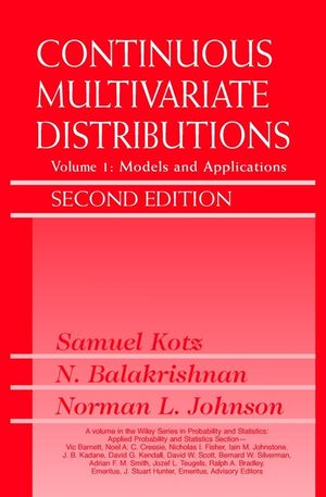 Continuous Multivariate Distributions, Volume 1, Models and Applications, 2nd Edition (0471654035) cover image