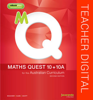 Maths Quest 10+10A for the Australian Curriculum 2E Teacher Edition eGuidePLUS (Online Purchase)