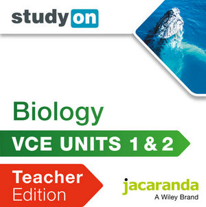 StudyOn VCE Biology Units 1&2 Teacher Edition (Online Purchase)