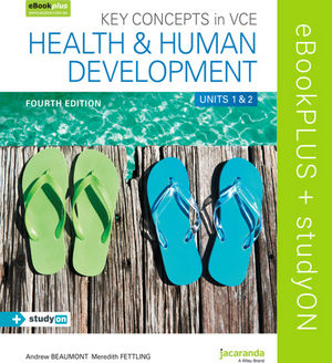 Key Concepts in VCE Health and Human Development Units 1 & 2 4e eBookPLUS (OL) + StudyOn VCE Health and Human Development Units 1 & 2 (OL)