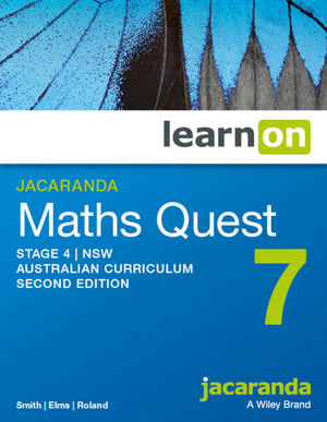 Jacaranda Maths Quest 7 Stage 4 2e NSW Australian curriculum learnON (Codes Emailed)